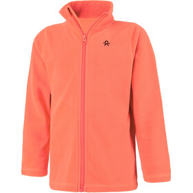 Color Kids Tembing Fleece Chaqueta Niños, fiery coral